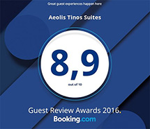 Aeolis Tinos Suites Booking.com Badge