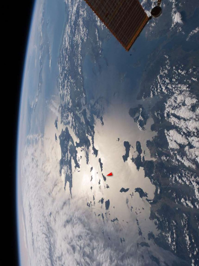 satellite picture of cyclades and the aegean sea